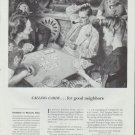"1942 United States Playing Card Co. Ad ""Calling Cards ... for good neighbors"""