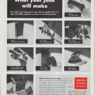 """1942 United States Steel Ad """"What your junk will make"""""""