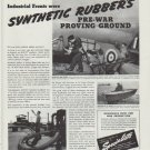 "1942 Hewitt Rubber Ad ""Synthetic Rubber's pre-war proving ground"""