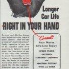 "1942 Auto-Lite Ad ""Longer Car Life"""
