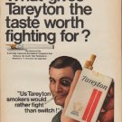 "1967 Tareyton Ad ""taste worth fighting for"""