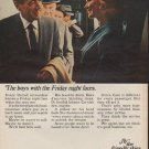 """1967 United Airlines Ad """"The boys with the Friday night faces."""""""