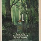 "1967 Pall Mall Ad ""forest-fresh taste"""