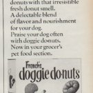 "1967 French's doggie donuts Ad ""A delicious new treat"""