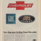 "1967 Chevrolet Ad ""Get that sure feeling from Chevrolet"""