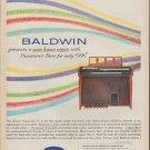 """1962 Baldwin Ad """"presents a new home organ"""""""