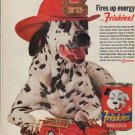 "1962 Friskies Ad ""Fires up energy"""
