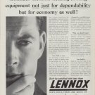 "1962 Lennox Ad ""Consider Lennox heating-cooling equipment"""