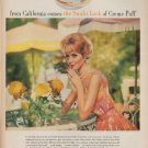 "1962 Max Factor Ad ""the Sunlit Look"""