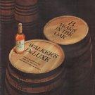 """1962 Walker's DeLuxe Bourbon Whiskey Ad """"8 Years In The Oak"""""""