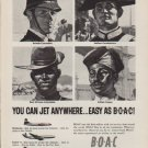 "1959 British Overseas Airways Corporation Ad ""You Can Jet Anywhere"""