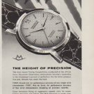 """1959 Movado Ad """"The Height Of Precision"""""""