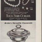 "1959 Black Starr & Gorham Ad ""The Bride's Pearls"""