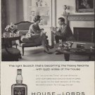 "1959 House of Lords Ad ""The light Scotch"""