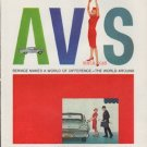"""1959 Avis Ad """"Service Makes A World Of Difference"""""""