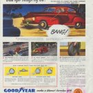 "1948 Goodyear Ad ""At High Speed"""