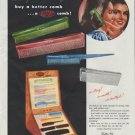 """1948 Du Pont Ad """"buy a better comb"""""""