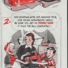 """1948 Texcel Tape Ad """"How To Mend That Toy"""""""