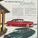 """1948 Lincoln (1949 model year) Ad """"New 1949 Lincolns"""""""
