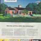 "1948 National Gypsum Company Ad ""Gold Bond"""
