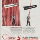 "1948 Chase Brass & Copper Ad ""For More Than A Ton"""