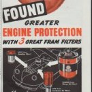 "1948 Fram Filters Ad ""Greater Engine Protection"""