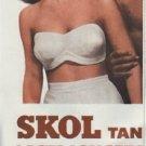 "1948 SKOL Suntan Lotion Ad ""Lasts Longer"""
