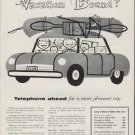 """1954 Bell Telephone System Ad """"Vacation Bound?"""""""