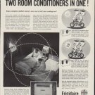 "1954 Frigidaire Ad ""Two Room Conditioners in One!"""