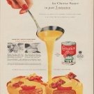 """1954 Carnation Milk Ad """"Cheese Sauce in just 3 minutes"""""""