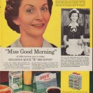 "1954 Kellogg's Ad ""Miss Good Morning"""