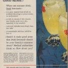 "1954 Sunkist Ad ""Good Sense"""