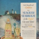 "1954 Seagram's Ad ""Seabreeze"""
