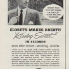"1954 Clorets Ad ""Beware The Backward Step*"""