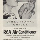"""1954 RCA Air Conditioner Ad """"Moves The Air"""""""