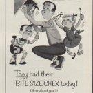 """1954 Ralston Purina Company Ad """"Bite Size Chex"""""""