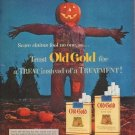 """1953 Old Gold Cigarettes Ad """"Scare claims"""""""