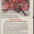 "1953 AC Fuel Pumps Ad ""Fire Pump"""