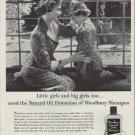 "1953 Woodbury Shampoo Ad ""Little girls and big girls"""