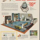"""1953 General Electric Ad """"Reach-Easy Cleaning"""""""