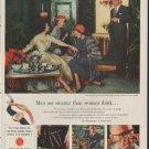 """1953 Watchmakers of Switzerland Ad """"Men are smarter"""""""