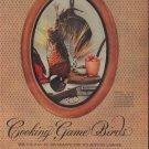 """1953 Thomas Yee Game Bird Photos Article """"Cooking Game Birds"""""""