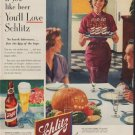 """1953 Schlitz Ad """"If you like beer"""""""