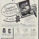"1953 Polaroid Ad ""Snapshot in 60 seconds"""