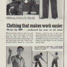 """1953 Lee Overalls Ad """"Clothing that makes work easier"""""""