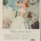 """1953 Pepsi-Cola Ad """"Fashion is for the Slender"""""""