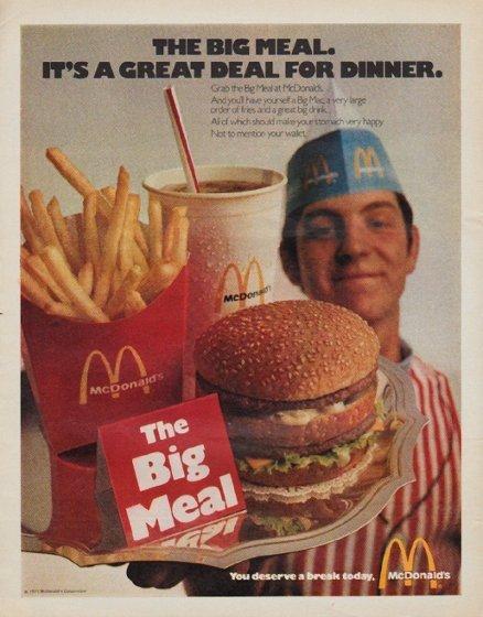 """1971 McDonald's Ad """"The Big Meal"""""""