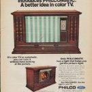 """1971 Philco Ad """"Bruno Furniture & Appliance"""""""