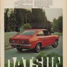 "1971 Datsun Ad ""miniature musclecar"""
