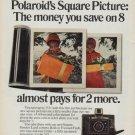 "1971 Polaroid Ad ""Square Picture"""